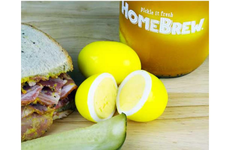 Pickled Mustard Egg In 24 Hours