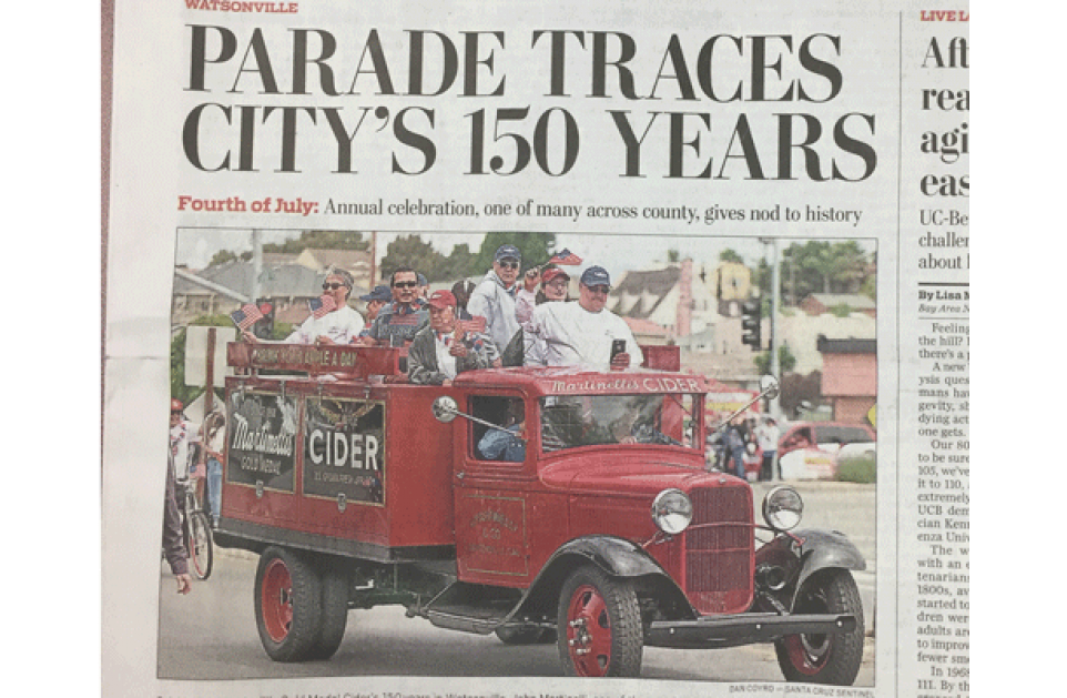 Martinelli's 150 Years - 4th of July Parade