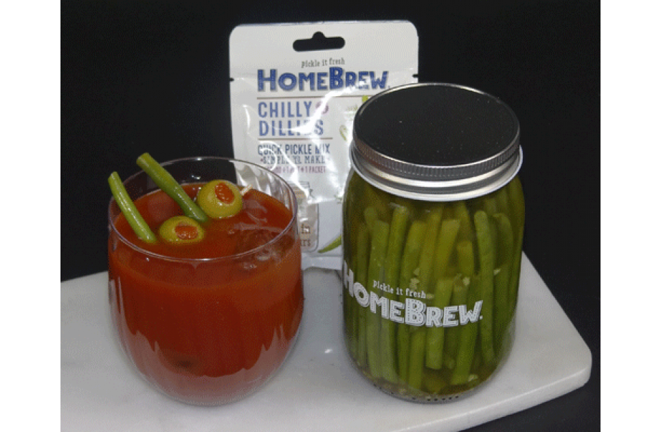 "Chilly Dillies ""Unleaded"" Bloody Mary"